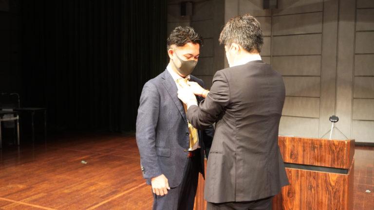 上尾YEG会長ネクタイの引継を行いました。
